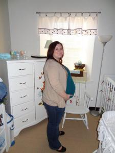 By the end of my pregnancy, I had gained about 50 lbs.