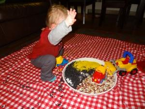 Flinging the Beans!